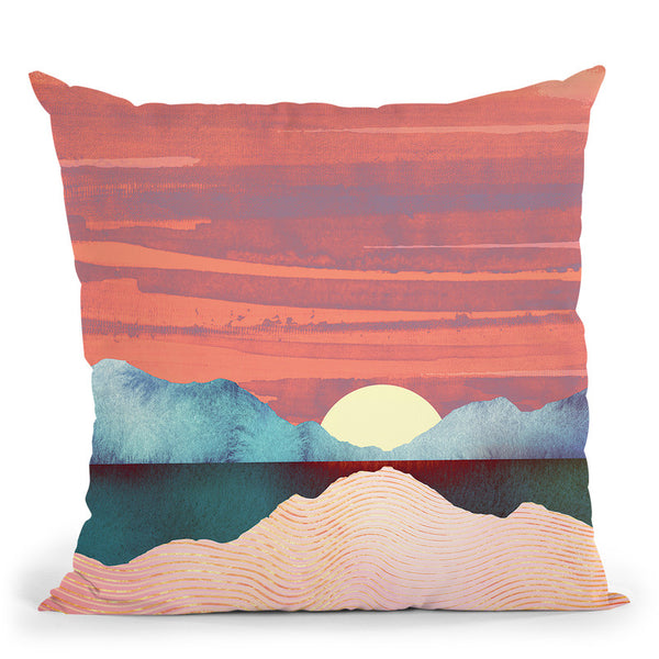 Pinkoasis Throw Pillow By Spacefrog Designs