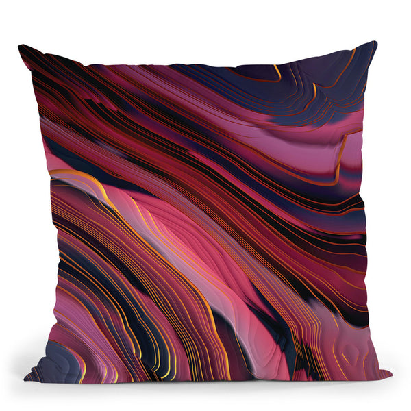Plum Abstract Throw Pillow By Spacefrog Designs