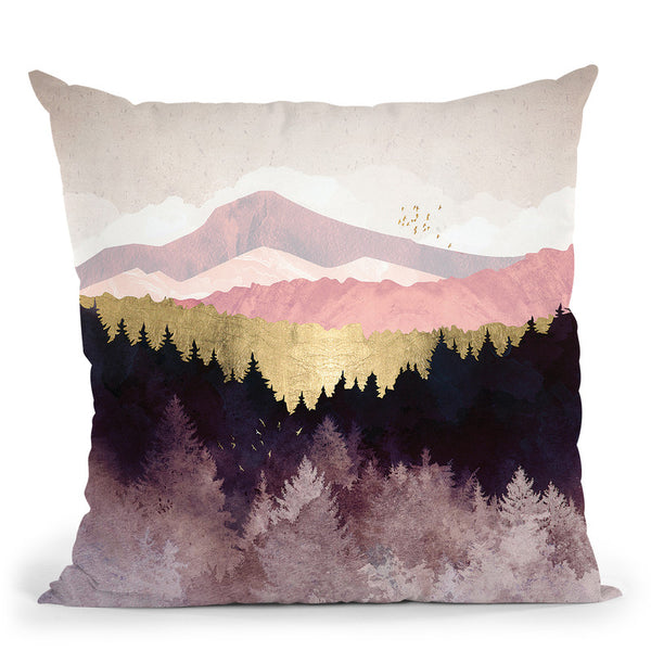 Plum Forest Throw Pillow By Spacefrog Designs