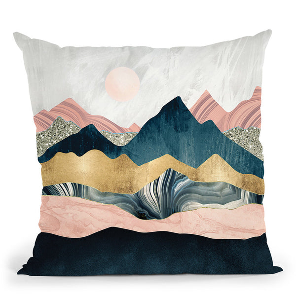 Plush Peaks Throw Pillow By Spacefrog Designs