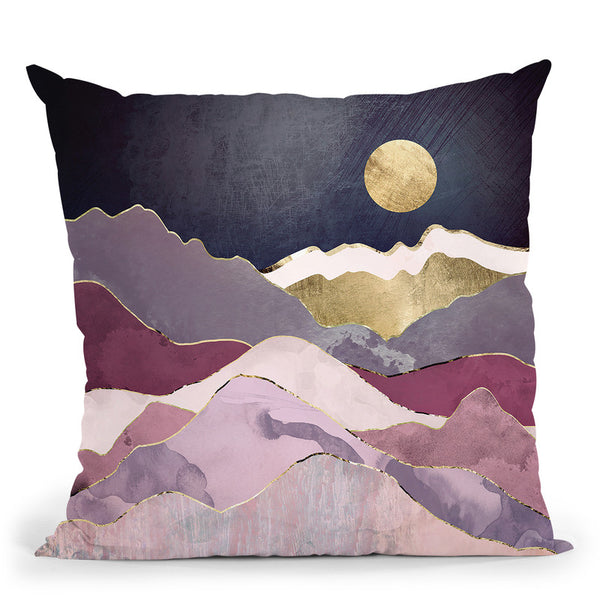Raspberry Dream Throw Pillow By Spacefrog Designs
