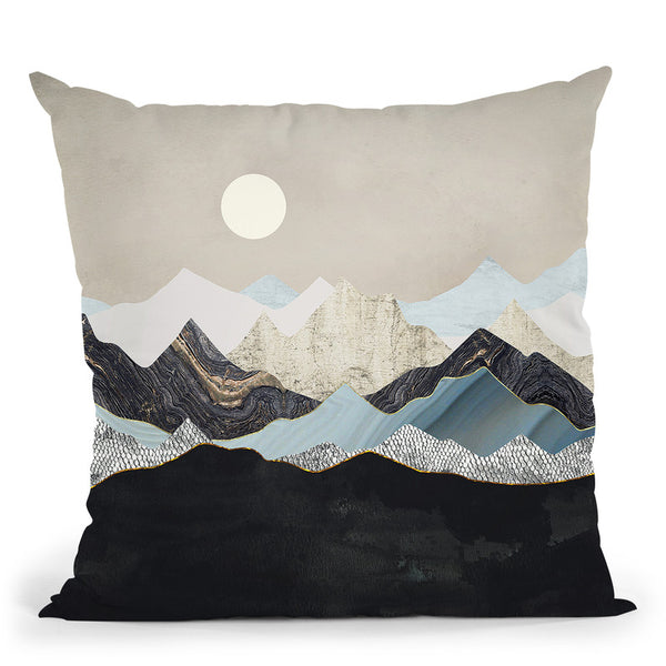 Silent Dusk Throw Pillow By Spacefrog Designs