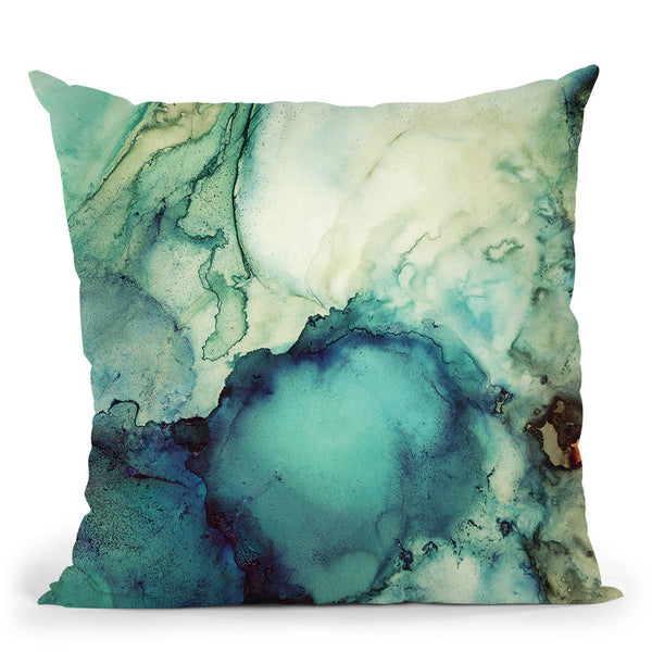 Teal Abstract Throw Pillow By Spacefrog Designs