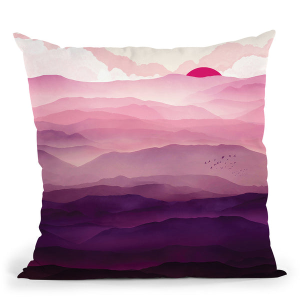 Ultra Violet Day Throw Pillow By Spacefrog Designs