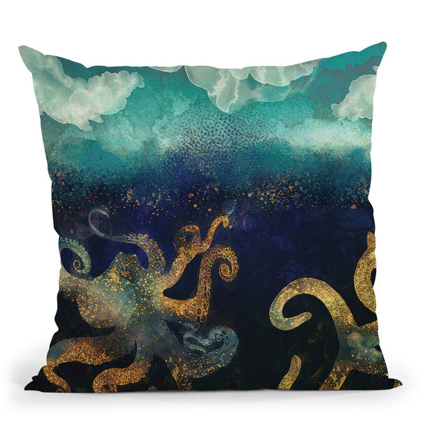 Underwater Dream Ii Throw Pillow By Spacefrog Designs