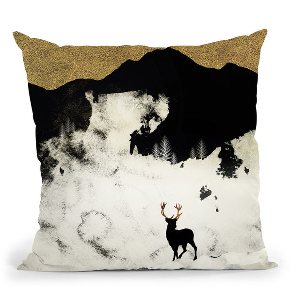 Winter Silence Throw Pillow By Spacefrog Designs