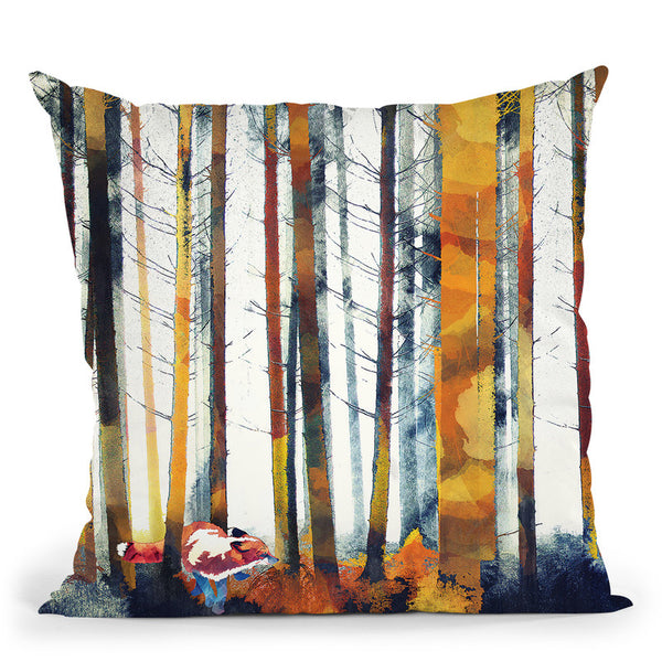 Autumn Hunt Throw Pillow By Spacefrog Designs