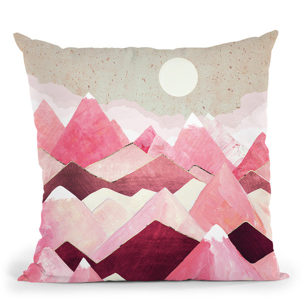 Blush Berry Peaks Throw Pillow By Spacefrog Designs
