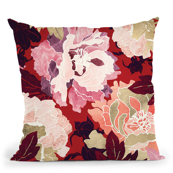 Bold Botanical Ii+H8 Throw Pillow By Spacefrog Designs