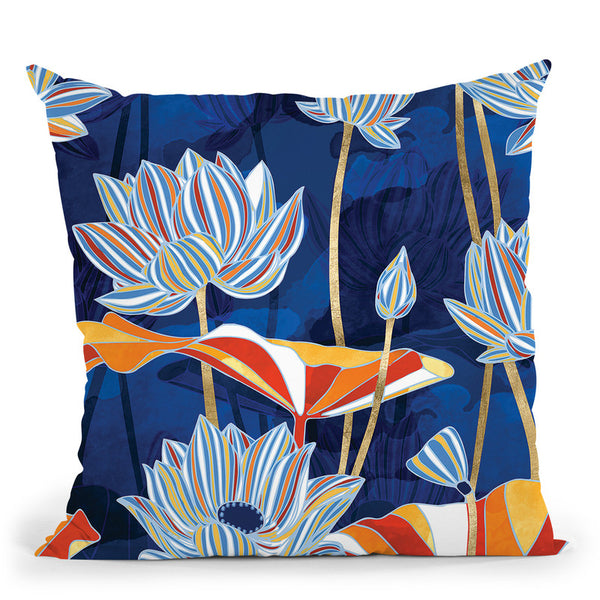 Bold Botanical Throw Pillow By Spacefrog Designs