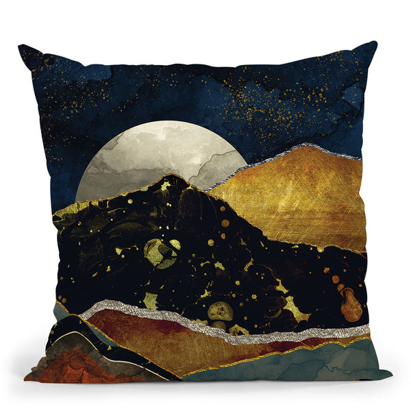 Bronze Night Throw Pillow By Spacefrog Designs