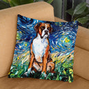 Boxer Throw Pillow by Aja Trier