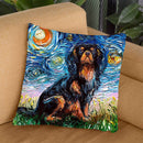 Cavalier King Charles Spaniel Throw Pillow by Aja Trier