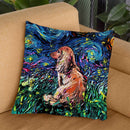 Dachshund Throw Pillow by Aja Trier