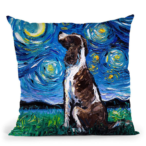 English Springer Spaniel Throw Pillow by Aja Trier
