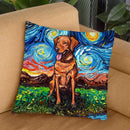Fox Red Labrador Throw Pillow by Aja Trier