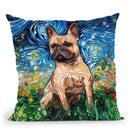 French Bulldog Fawn Throw Pillow by Aja Trier
