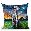 Great Dane Throw Pillow by Aja Trier