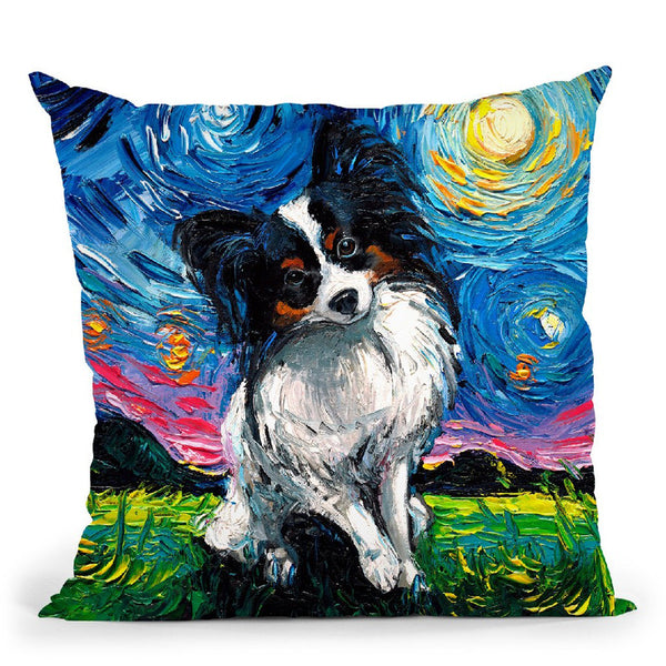 Papillon Throw Pillow by Aja Trier