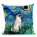Pug Throw Pillow by Aja Trier