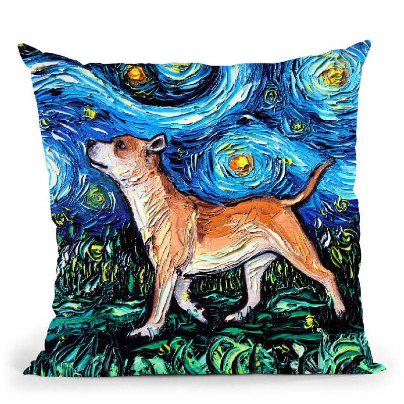 Staffordshire Bulldog Throw Pillow by Aja Trier
