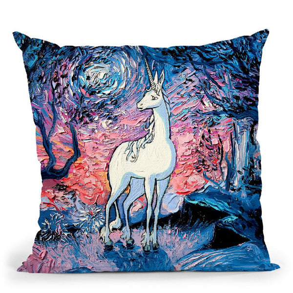 The Last Star Of Morning Throw Pillow by Aja Trier