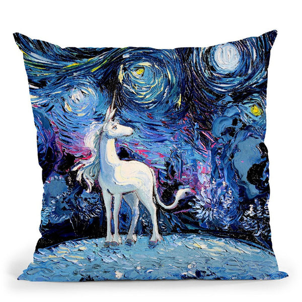 Vangogh Never Saw The Last Throw Pillow by Aja Trier