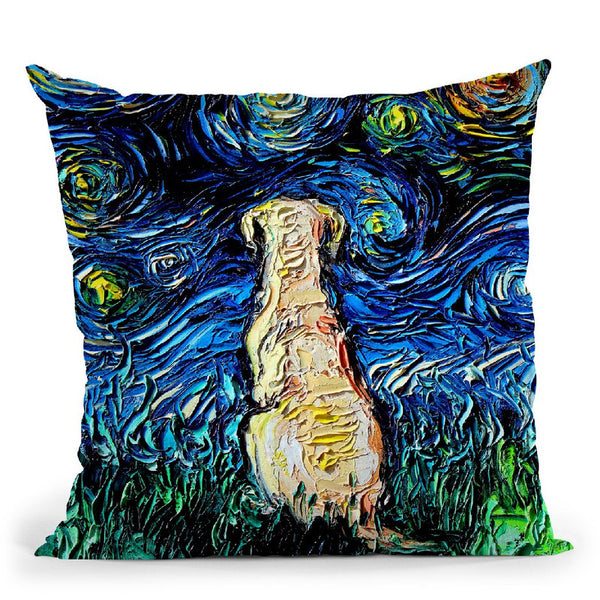 Yellow Lab Throw Pillow by Aja Trier