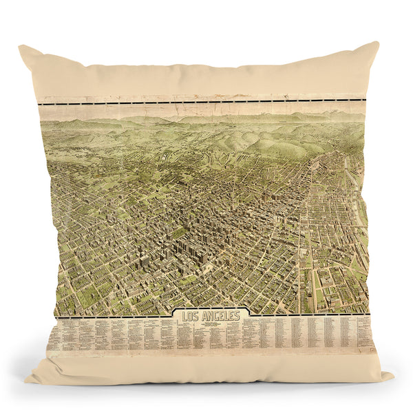 Los Angeles 1909 Throw Pillow By Adam Shaw