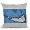 Nantucket 1869 Blue And White Ocean Throw Pillow By Adam Shaw