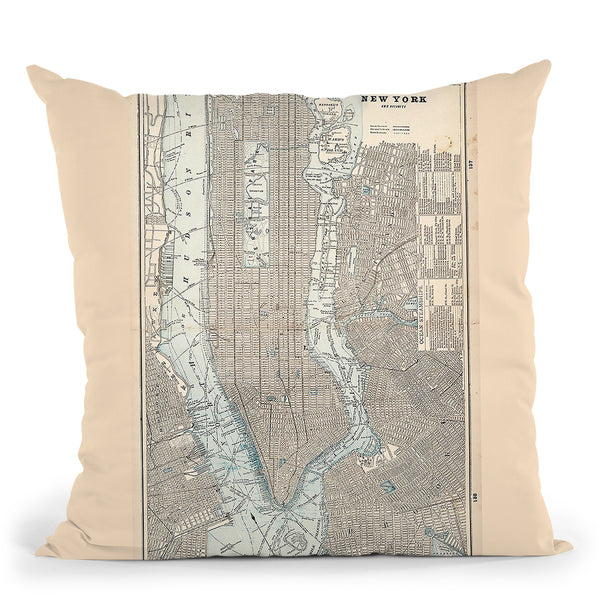 New York City 1893 Throw Pillow By Adam Shaw