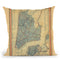 New York City 1846 Throw Pillow By Adam Shaw