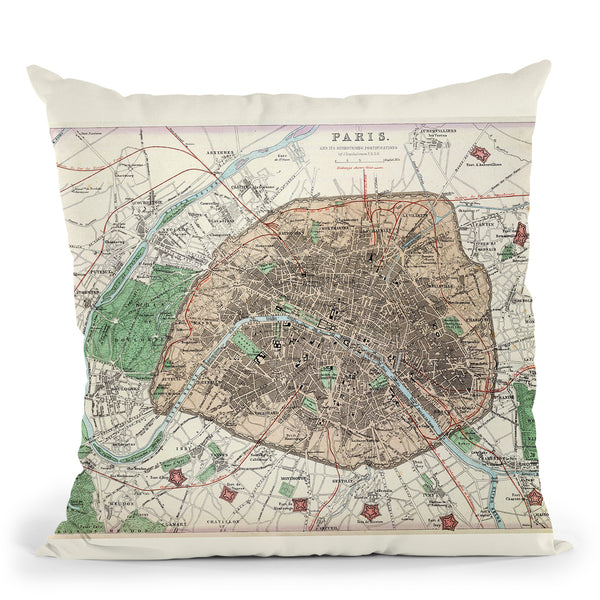 Paris 1872 Throw Pillow By Adam Shaw