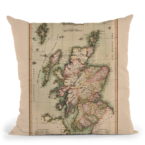 Scotland 1814 Throw Pillow By Adam Shaw