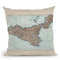Sicily 1900 Cartog 2 Throw Pillow By Adam Shaw