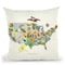 United States Botanical Map 1911 Throw Pillow By Adam Shaw