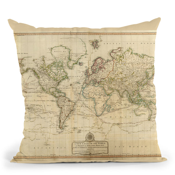 World 1800 Throw Pillow By Adam Shaw