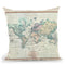 World 1801 Throw Pillow By Adam Shaw