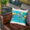 World 1897 Throw Pillow By Adam Shaw
