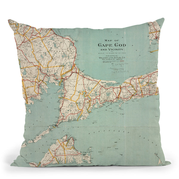 Cape Cod 1917 Throw Pillow By Adam Shaw
