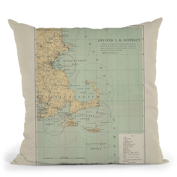 Cape Cod Lighthouses 1898 Throw Pillow By Adam Shaw