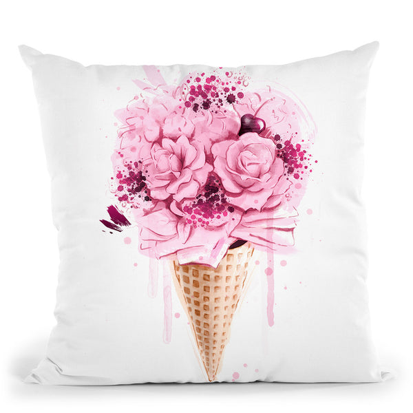 Ice Cream Bouquet Throw Pillow By Cristina Alonso