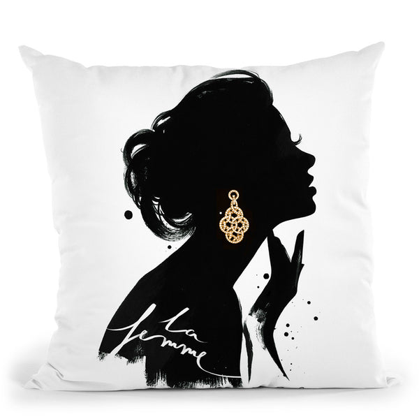 La Femme Throw Pillow By Cristina Alonso