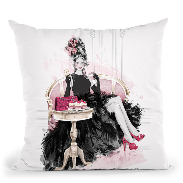Let Them Eat Cupcakes Throw Pillow By Cristina Alonso