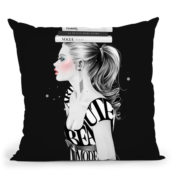 Muse Throw Pillow By Cristina Alonso