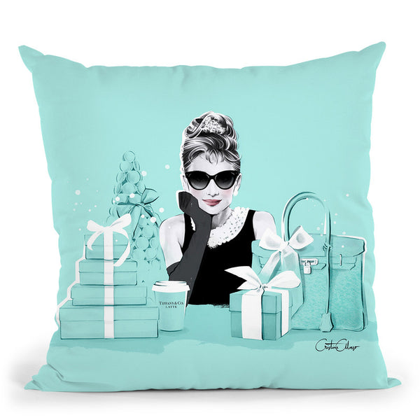 Breakfast At Tiffanys Throw Pillow By Cristina Alonso