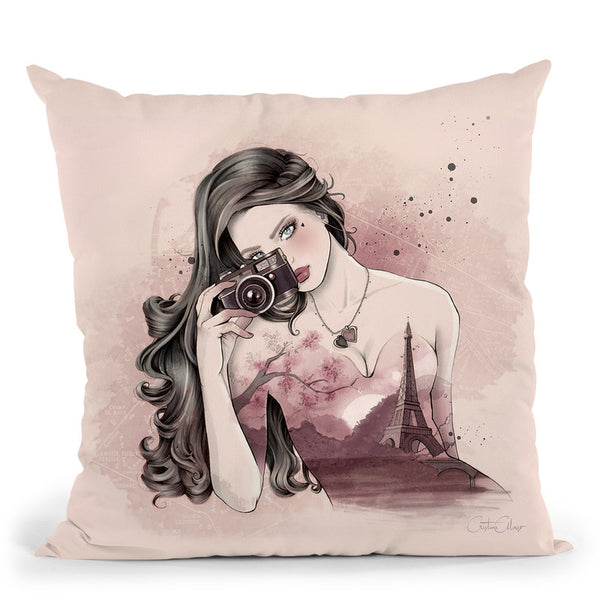 Paris Inside Throw Pillow By Cristina Alonso