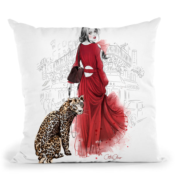 Petit Leopard Throw Pillow By Cristina Alonso