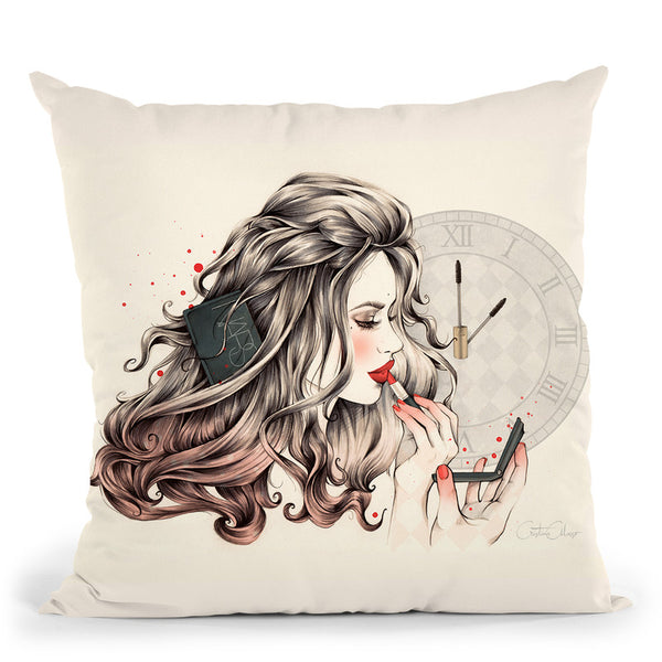Rouge Passion Throw Pillow By Cristina Alonso