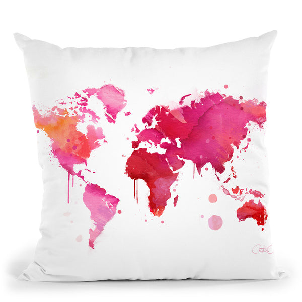 Travel Throw Pillow By Cristina Alonso